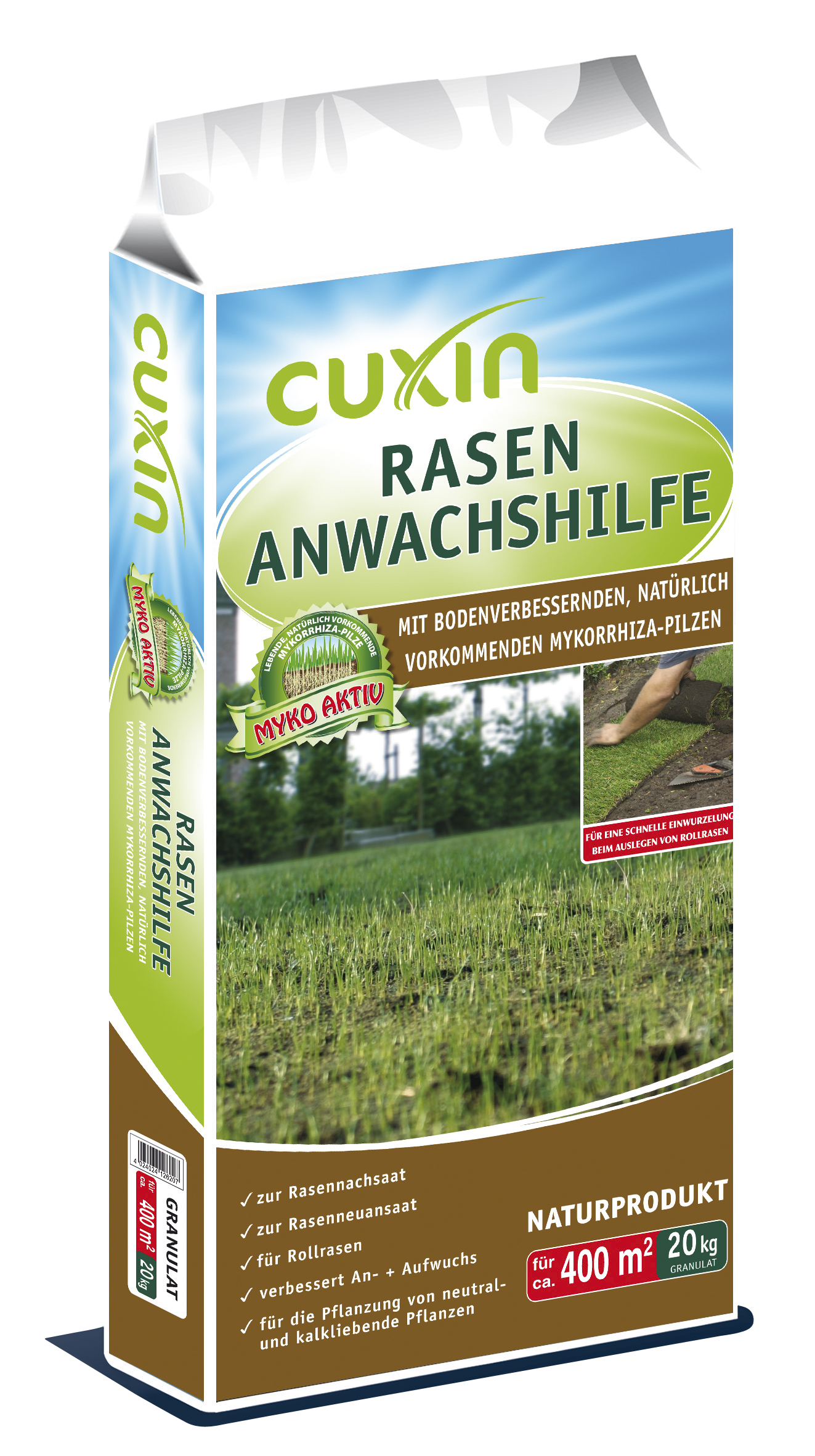 cuxin rasen anwachshilfe mit bodenverbessernden mykorrhiza. Black Bedroom Furniture Sets. Home Design Ideas