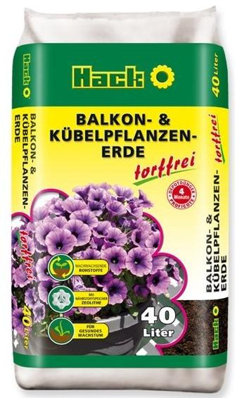 BIO Erde Blumenerde Balkonerde & Kübelpflanzenerde 40 Ltr. TORFFREI mit Dünger für 4 Monate