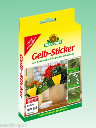 Neudorff - Gelb-Sticker 10 Stück