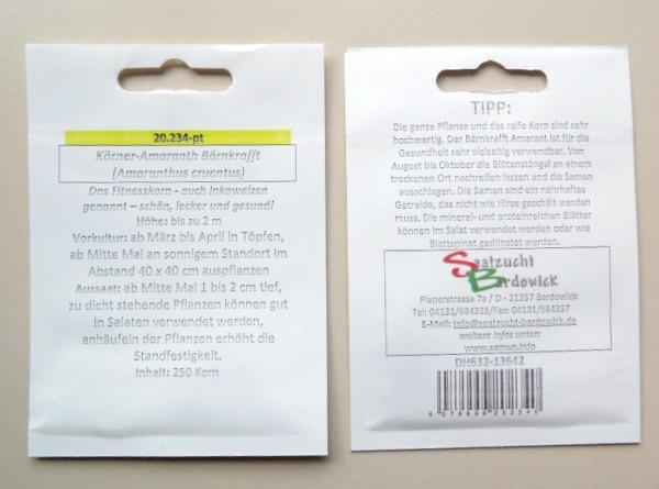 Körner-Amaranth (19,00€/100g) Bärnkrafft (Amaranthus cruentus) 100g