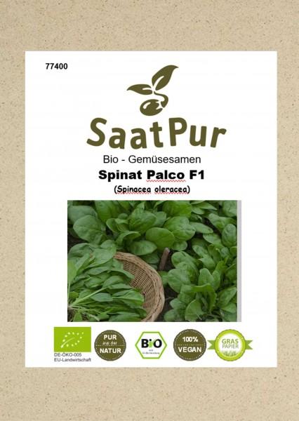 Bio Gemüsesamen Spinat Palco fleischiger Blattspinat dunkelgrün für ca. 650 Pflanzen