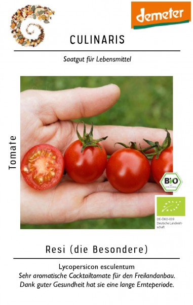 Cocktailtomate Resi aromatische rote Tomate - Bio Saatgut - Bio Samen