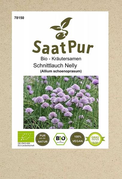 Bio Kräuter Samen Schnittlauch Nelly Saatgut Schnittlauchsamen Küchenkraut Gewürzkraut für ca.100 Pf