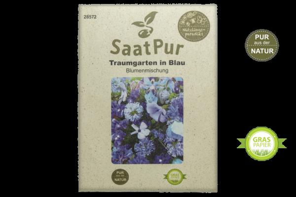 Sommerblumenmischung Traumgarten in Blau