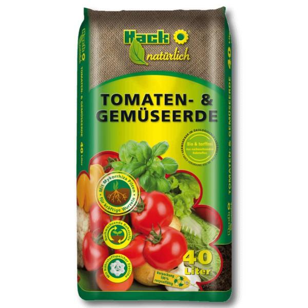 Bio Gemüse Erde und Tomaten Erde - TORFFREI - 40 Ltr.