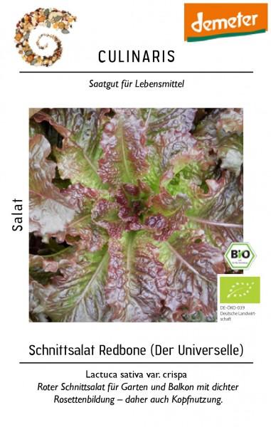 Schnittsalat Redbone für ca. 100 Pfl. Bio Schnittsalat - Bio Samen - Bio Saat - Bio Gemüsesamen - De