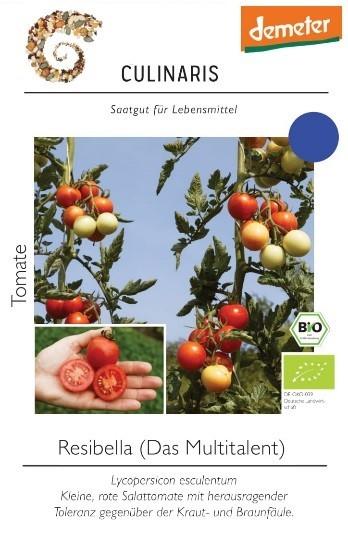 Tomate Resibella Freiland 12 Korn - Salattomate Naschtomate