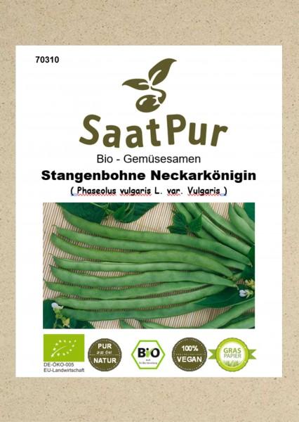 Bio Gemüsesamen Stangenbohne Neckarkönigin 50g grüne Gartenbohne