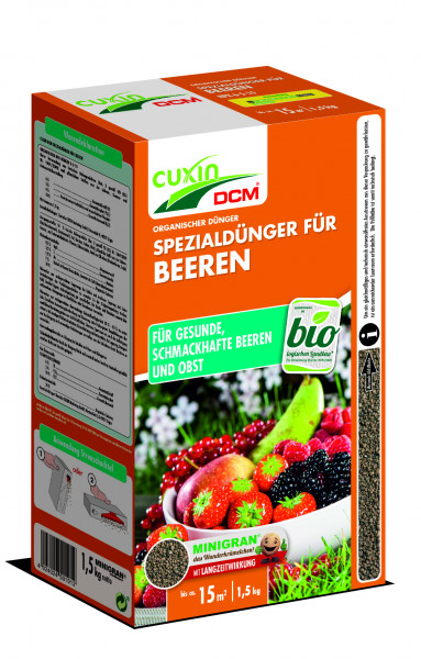 CUXIN organischer Dünger für Beerensträucher & Obstbäume