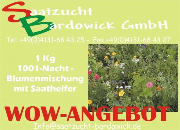 1001-Nacht Blumenzauber Sommerblumenmischung 1,0 kg (ohne Gras, mit Saathelfer)