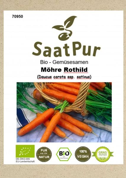 Bio Gemüsesamen Möhre Rothild Bio Karotte ertragreiche Spreisemöhre für ca. 500 Pfl.