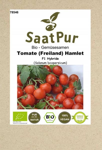 Bio Gemüsesamen Tomate Hamlet Freilandtomate ertragreich rot aromatische Tomaten für ca. 8 Pfl.