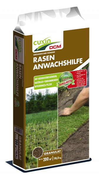 CUXIN Rasen-Anwachshilfe mit bodenverbessernden Mykorrhiza-Pilzen